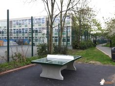 Pingpongtafel Groen bij Stoneydown Park E.17 in London