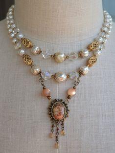 Vintage Assemblage Jewelry MidCentury by OneCharmingTreasure
