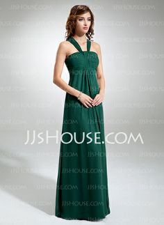 COOL - Empire Halter Floor-Length Chiffon Bridesmaid Dresses With Ruffle (007001897) http://jjshouse.com/Empire-Halter-Floor-length-Chiffon-Bridesmaid-Dresses-With-Ruffle-007001897-g1897