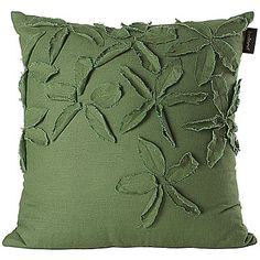 3D+Embroidered+Green+Linen+Decorative+Pillow+Cover+–+USD+$+14.99