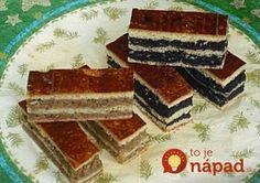 Hľadali ste mak s mliekom - To je nápad! Hungarian Desserts, Hungarian Cake, Hungarian Recipes, Hungarian Food, Slovak Recipes, Czech Recipes, Sweet Cookies, Sweet Treats, Sweet Desserts