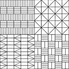 Commune Tile - Modernist geometric pattern