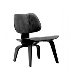 Charles Ray Eames Style LCW Chair - Black