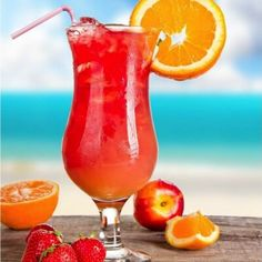 Sex on the Beach. Because vacation doesn't really start until you sip a frozen cocktail poolside, we recommend ordering this Royal Caribbean favorite.