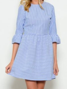 seersucker dress | seabreeze stripes | sassyshortcake.com | sassy shortcake