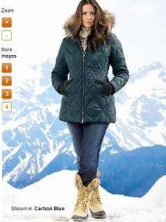 Eddie Bauer Women Fashion | Eddie Bauer Women BLACK Slope Side GOOSE DOWN PARKA coat jacket XLT XL