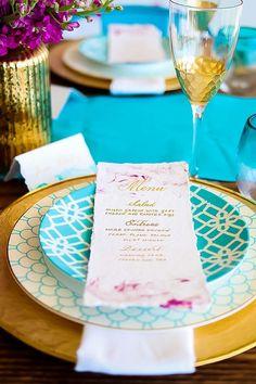 Purple marbelized wedding menu card with gold calligraphy Wedding Menu Cards, Wedding Dinner, Wedding Table Settings, Wedding Paper, Wedding Tables, Wedding Veils, Place Settings, Coastal Wedding Inspiration, Creative Wedding Inspiration
