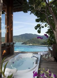 Santhiya Resort & Spa 5* in Thong Nai Pan Noi on the east coast of Koh Phangan, Thailand. I need this in my life...