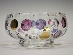 Borské Sklo 'Nemo' glass bowl, by Max Kannegiesser