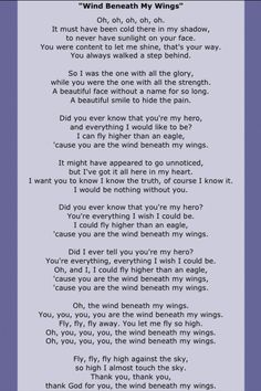 Bette Midler, Wind Beneath my Wings Great Song Lyrics, Song Lyric Quotes, Music Lyrics, Music Quotes, Love Songs, Music Songs, Beautiful Songs, Funeral Songs, Antique Books