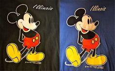 Vintage 1980s Mickey Mouse Shirt NEW OLD STOCK by PinballPoet, $23.00