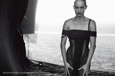 Amber Valletta by Peter Lindbergh for Vogue Italia