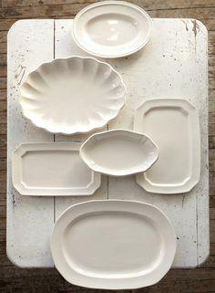 Creamware Platters, Assorted Set of 6