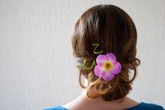 Épingle à cheveux anémone, pourpre, rose, fleur d