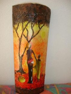 teja decorada teja oleo,pasta modeladora,acrilicos relieve,pintura