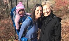 Hillary Clinton seen hiking day after conceding US election | US news | The Guardian
