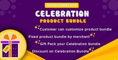 WooCommerce Celebration Product Bundle attracts customers by their easily create Product Bundle with Packing type.   This extension will provide options for admin to make a different bundle related settings, which are controlled by admin but those settings provide options to shop customers to create their own bundle product not end here, along with these features Customers can choose their celebration pack type also.