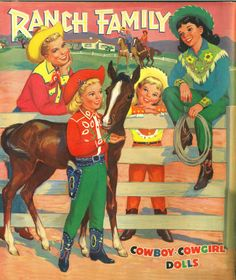 Ranch Family paper dolls