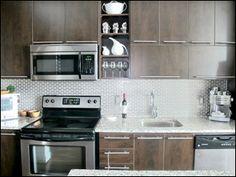 Vu Lofts, Toronto - Photos Brick Feature Wall, Toronto Photos, Kitchen Cabinets, Kitchen Appliances, Floor To Ceiling Windows, Granite Counters, Stainless Steel Appliances, Lofts, Locker Storage