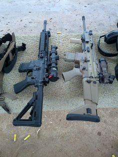 AR-15 & SCAR Assault Rifles - Source: https://www.facebook.com/HunterzParadize