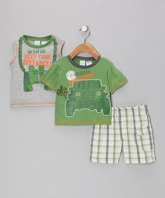 Take a look at this Green Adventure Tee Set by Baby Togs on #zulily today!