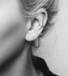 Boucle d'oreille anneau cartilage / faux piercing >> http://www.taaora.fr/blog/post/boucles-oreilles-non-percees-anneau-cartilage-faux-piercing-ear-cuff #Piercings