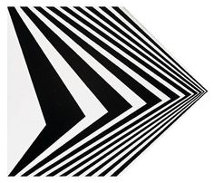 by;Bridget Riley  'British OFF', c.1963...  emulsion on hardboard (housed in Perspex)