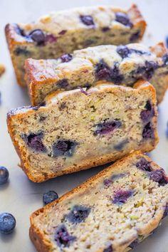 Blueberry Banana Zucchini Bread   Averie Cooks   Bloglovin'