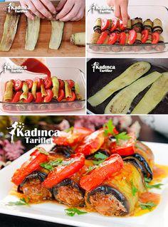 Köfteli Patlıcan Sarması Tarifi Kadincatarifler.com - En Pratik, Lezzetli ve Nefis Yemek Tarifleri Sitesi