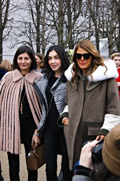 great trio, After the Show/Paris Fashion week 2014