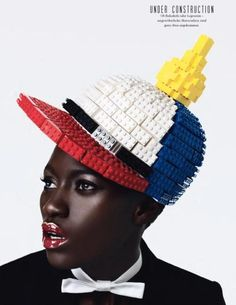 Designer: LEGO | Photographer: Armin Morbach | Model: Kine Diouf | Tush Magazine, 15th issue