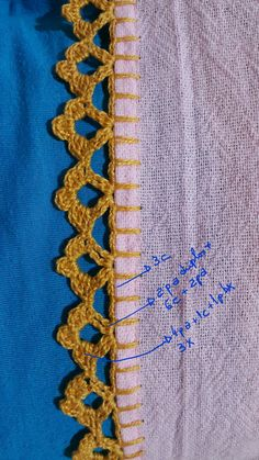 Diy Crafts - DIY & crafts projects, contents and more - Diy Crafts Crochet Fleece Baby Blanket Afghan Nur 56295064079520921 P Crochet Boarders, Crochet Edging Patterns, Crochet Lace Edging, Cotton Crochet, Crochet Designs, Crochet Doilies, Diy Embroidery Stitches, Crochet Stitches, Embroidery Patterns