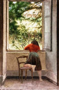 Balthus Girl at a Window, 1955.
