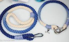 DIY Hundeleine und Halsband Tau im Ombre , DIY Ombre Leash Style Anleitung auf Hunderosa.de/blog/