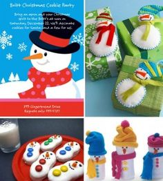 Cute snowman cookies & the tags would be cute ornaments