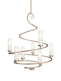 Buy Seriph Spiral Chandelier by Hammerton - Made-to-Order designer Chandeliers from Dering Hall's collection of Contemporary Transitional Lighting. Dining Chandelier, Luxury Chandelier, Chandelier Lighting, Designer Chandeliers, Fabric Chandelier, Ceiling Lamp, Ceiling Lights, Artwork Lighting, Transitional Lighting