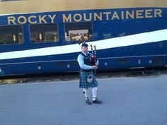 bag pipes as we board the Rocky Mountaineer train in Vancouver www.lushlife.ca