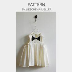 Dress Leni pattern by Lieschen Mueller Sizes 2 y - 6 y