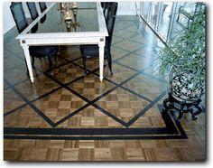 Geometric Designs Hand Painted Inlays on Wood Floors, Geometric Designs painted on wood floors,Painted WOOD FLOOR Inlays Wood Graining Inlays PAINTED WOOD FLOORS- Handpainted Faux Finishes on Hardwood Floors-Custom Wood Floors