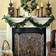 After decorating my Christmas Mantel with fresh greenery and garden-in… :: Hometalk