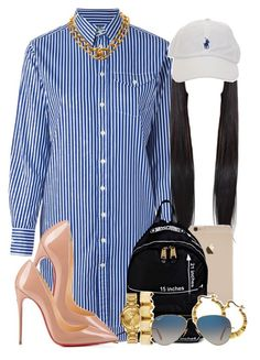 Runways by trill-forlife on Polyvore featuring Polo Ralph Lauren, Christian Louboutin, Moschino, Versus, Chanel and Ray-Ban