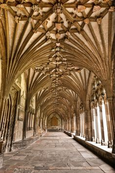 the cloisters, canterbury cathedral..