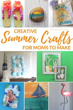 Don't forget your self-care in the midst of summer break. Recharge and prevent burnout with these creative summer crafts for moms to make.