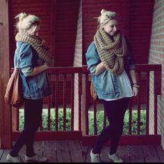 chunky scarves are my life.