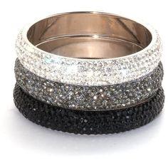 Crystal Medium Bangle | Medium Bangle Silver | Lemonade Bangle (43 AUD) ❤ liked on Polyvore featuring jewelry, bracelets, accessories, pulseiras, pulseras, bracelets bangle, silver jewelry, silver crystal jewelry, silver bangles and silver bracelets bangles