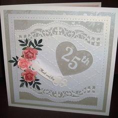 Joylovescrafts   docrafts.com 25th Wedding Anniversary, I Card, Joy, Frame, Projects, Decor, Picture Frame, Log Projects, Blue Prints