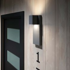 Home Exterior Decorating with Outdoor lighting Front Door Lighting, Outdoor Sconce Lighting, Modern Outdoor Wall Lighting, Outdoor Wall Lamps, Outdoor Light Fixtures, Outdoor Walls, Lighting Ideas, Modern Exterior Lighting, Fence Lighting