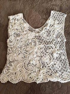 a6e91a3c2f6af Top female. Crochet Irish lace. Ирландское by CrochetLaceforDoll Freeform  Crochet, Crochet Lace,
