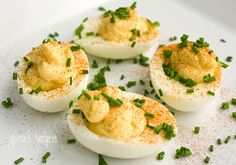 Deviled Eggs - the classic appetizer #eggs #spring #deviled #appetizer