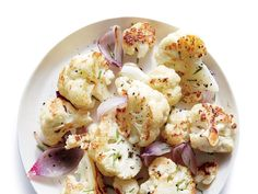 Side: Buttery Roasted Cauliflower with Tarragon-Mustard Remoulade and Grilled Flash-Marinated Skirt Steak